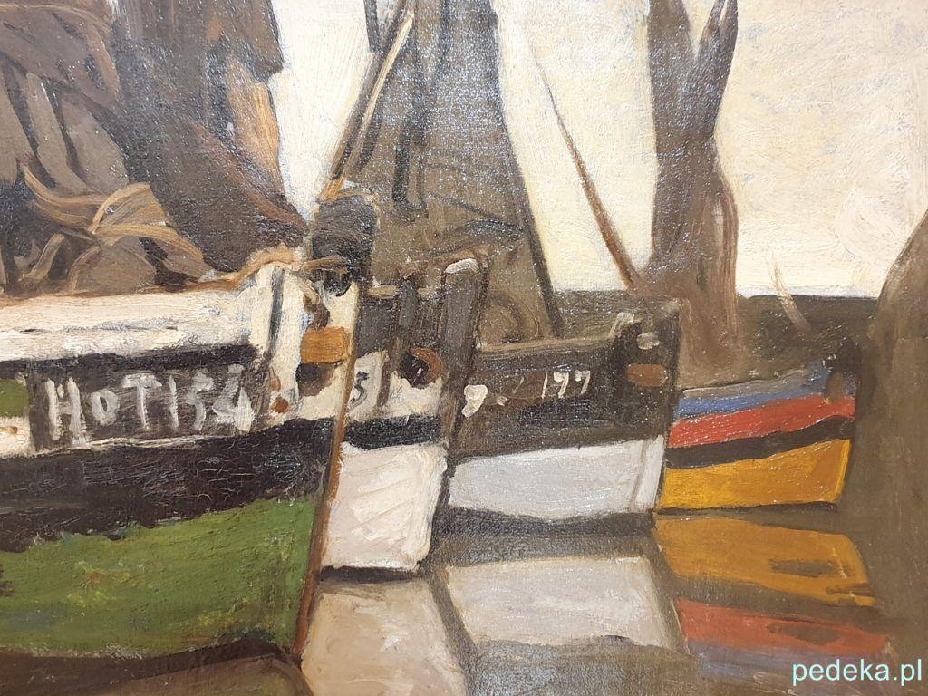 Claude Monet Łodzie rybackie w Honfleur