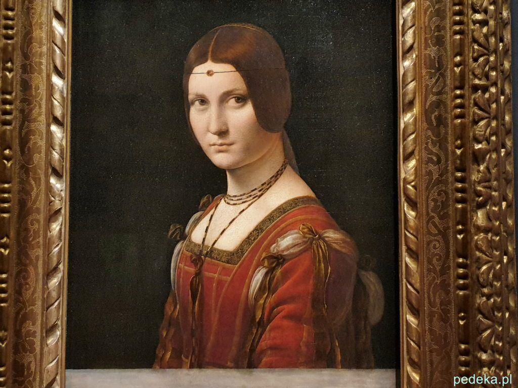 Leonardo da Vinci wystawa w Paryżu. Portret kobiety z Mediolanu