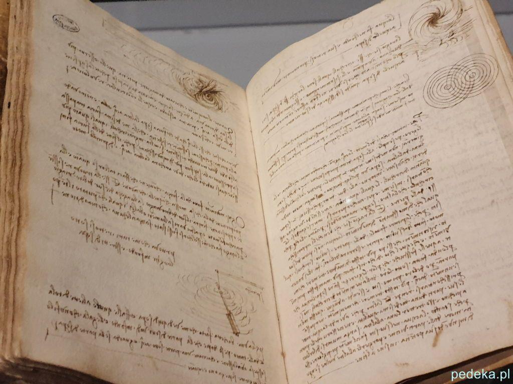 Leonardo da Vinci wystawa w Paryżu. jeden z notatników
