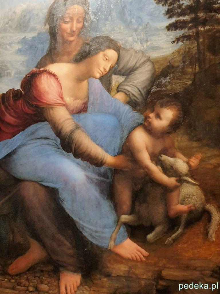 Leonardo Vinci wystawa w Paryżu. Św. Anna Samotrzeć