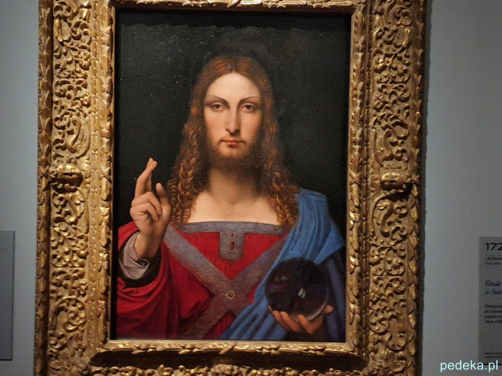 Leonardo da Vinci wystawa w Paryżu. Salvator Mundi