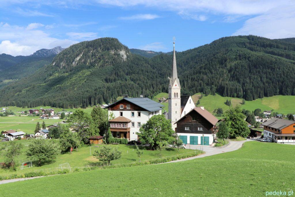 Alpy w okolicach Salzburga. Gossau, miejscowość, w której spaliśmy