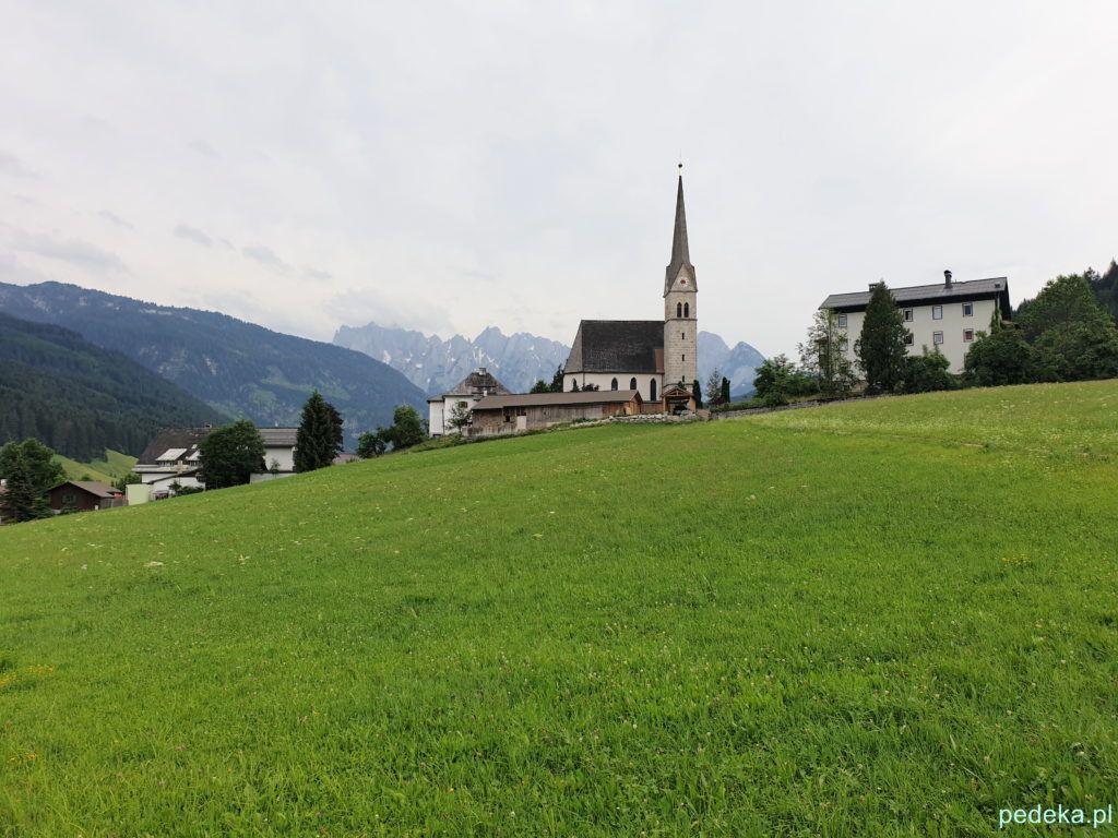 Alpy w okolicy Salzburga. Gossau