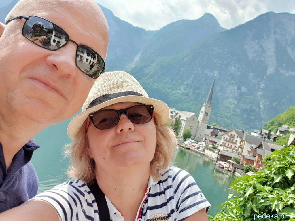 Alpy w okolicy Salzburga. Hallstatt i my