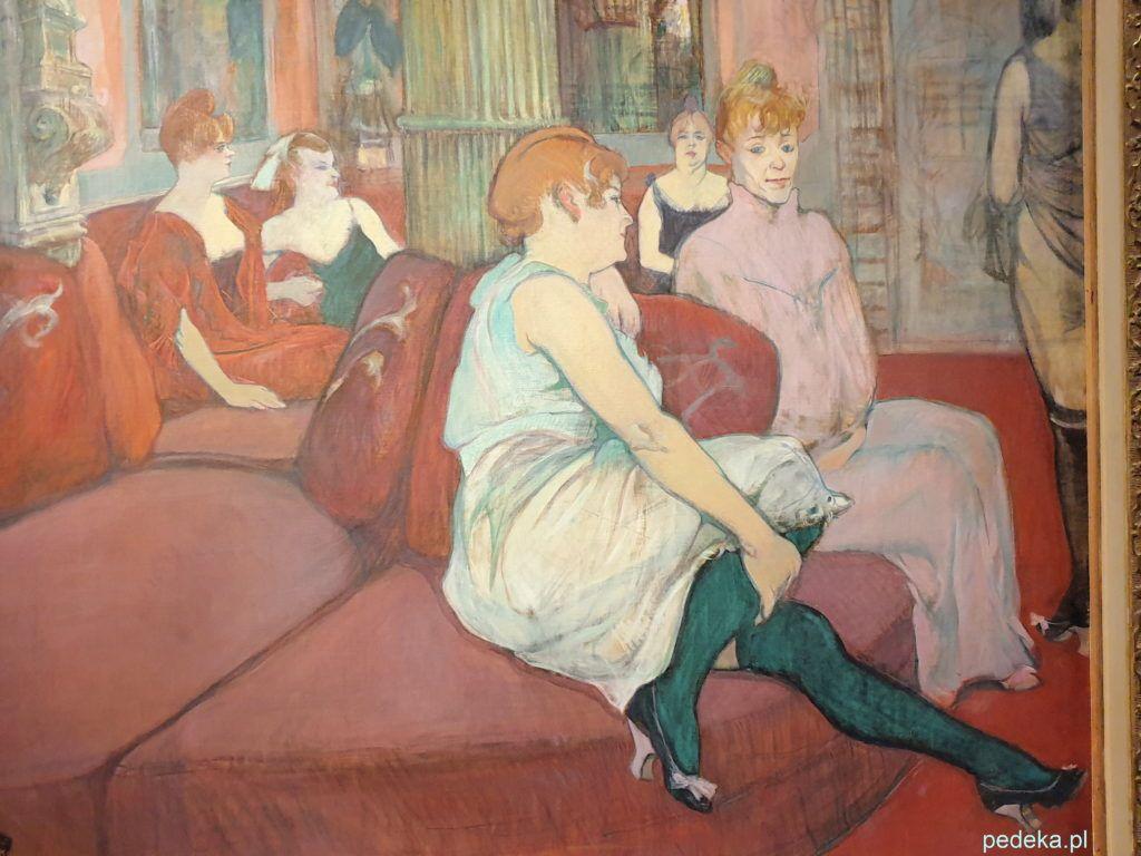 Henri Toulouse Lautrec. Obraz - Salon przy ulicy Moulins