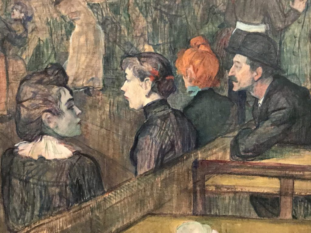 Henri Toulouse Lautrec. Bal du Moulin de la Galete