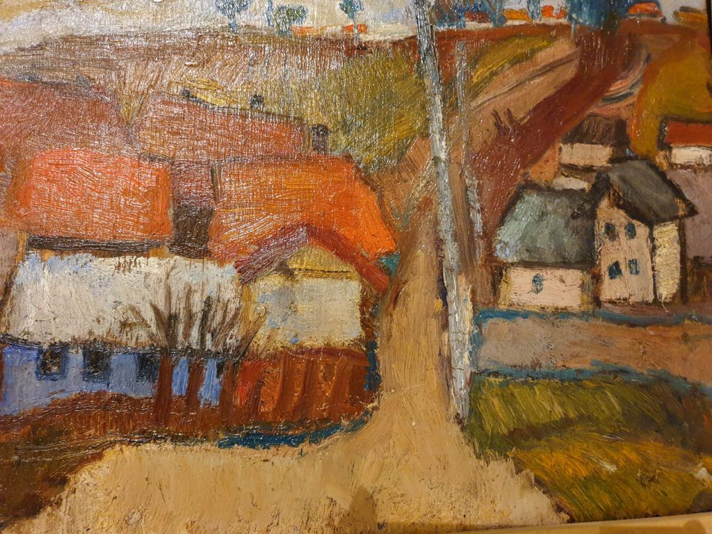 Leopold Lewicki Krajobraz z domami
