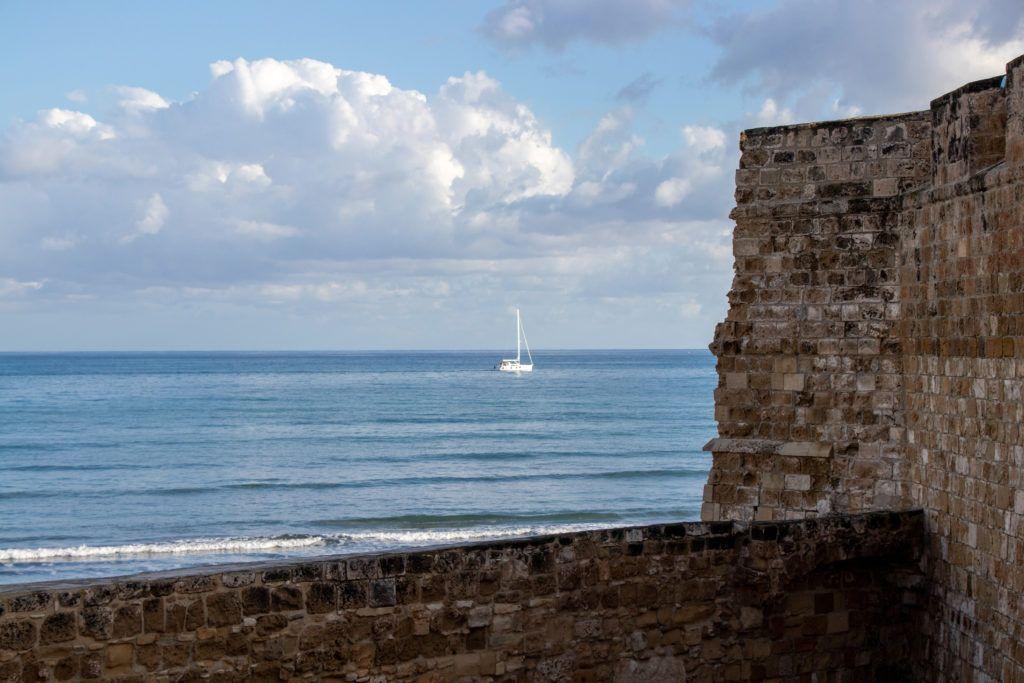 Widok z zamku na morze