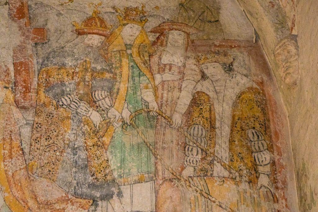 Zachowane freski w kościele św.Piotra