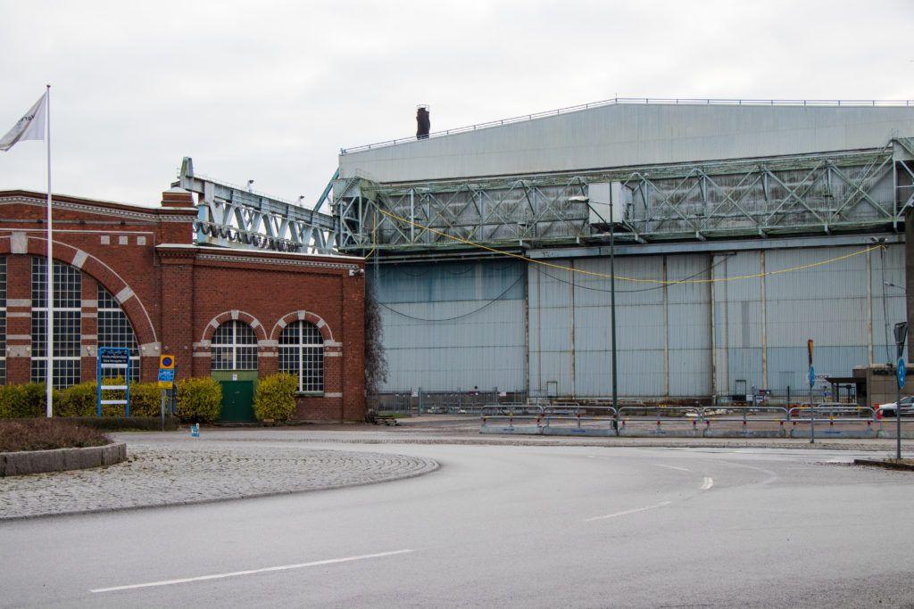 Malmö. Dawne hale właśnie przebudowywane
