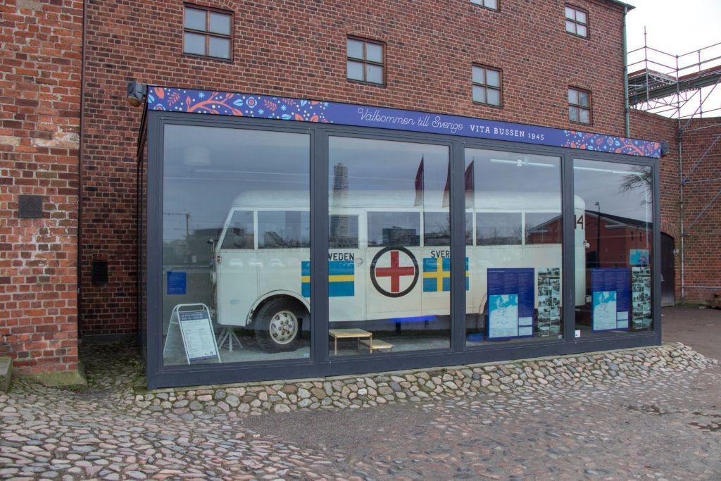 Malmö Biały autobus