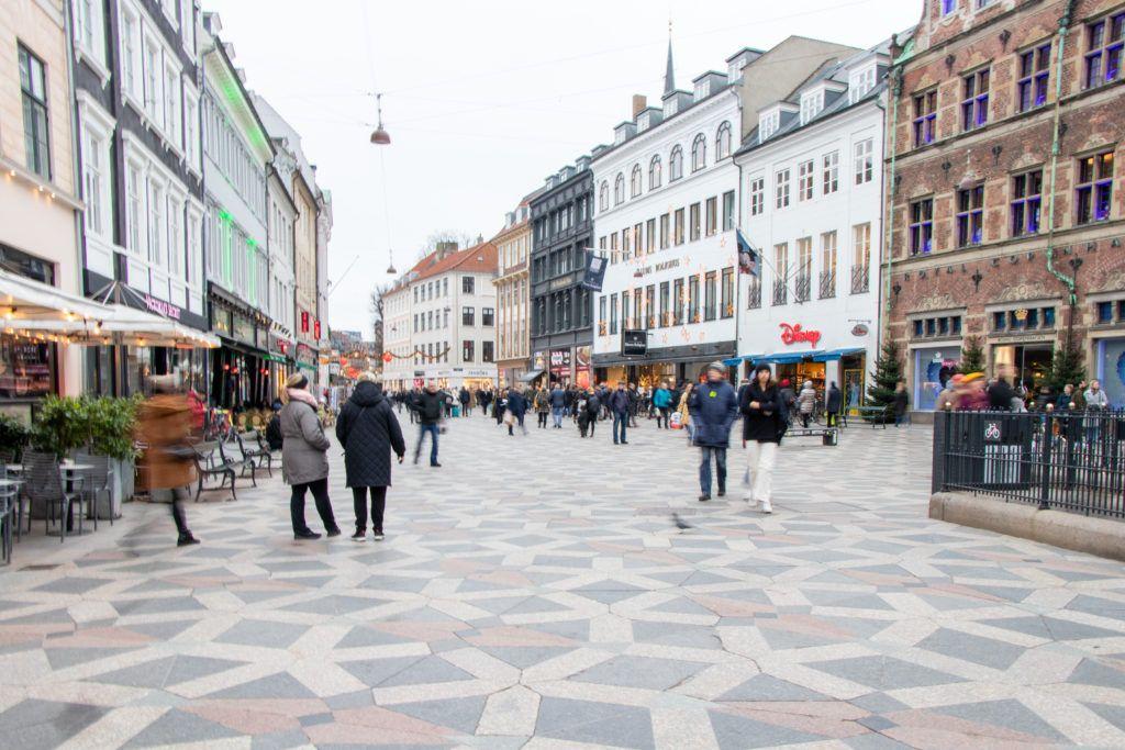 Kopenhaga przed świętami. W centrum miasta