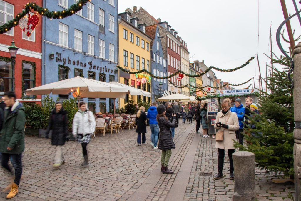 Kopenhaga przed świętami. Nyhaven