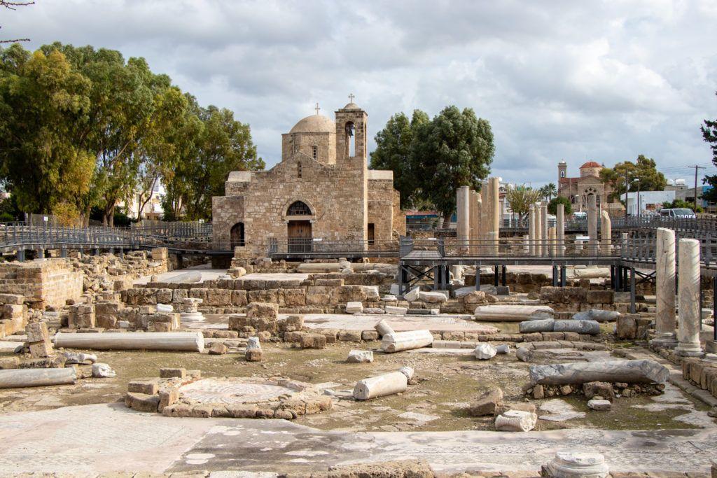 Pafos. Całość założenia dawnej świątyni