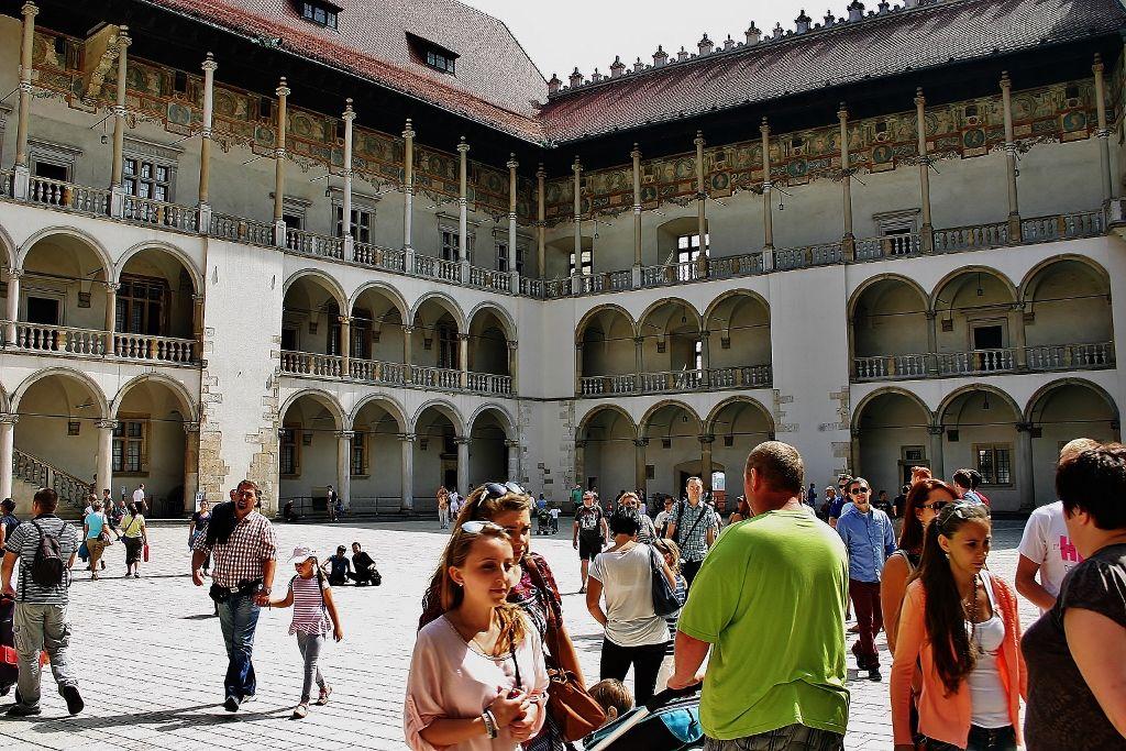 Dziedziniec na Wawelu