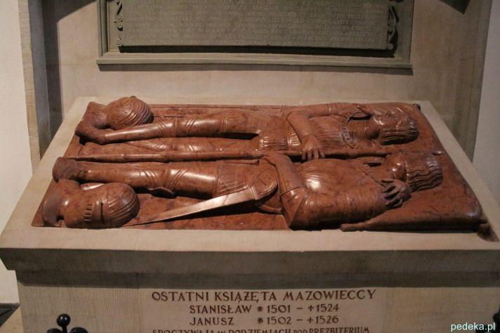 Katedra św. Jana w Warszawie . Nagrobek ostatnich książąt mazowieckich