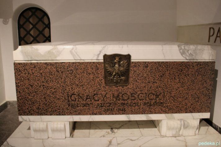 Katedra św. Jana w Warszawie. Grób Ignacego Mościckiego