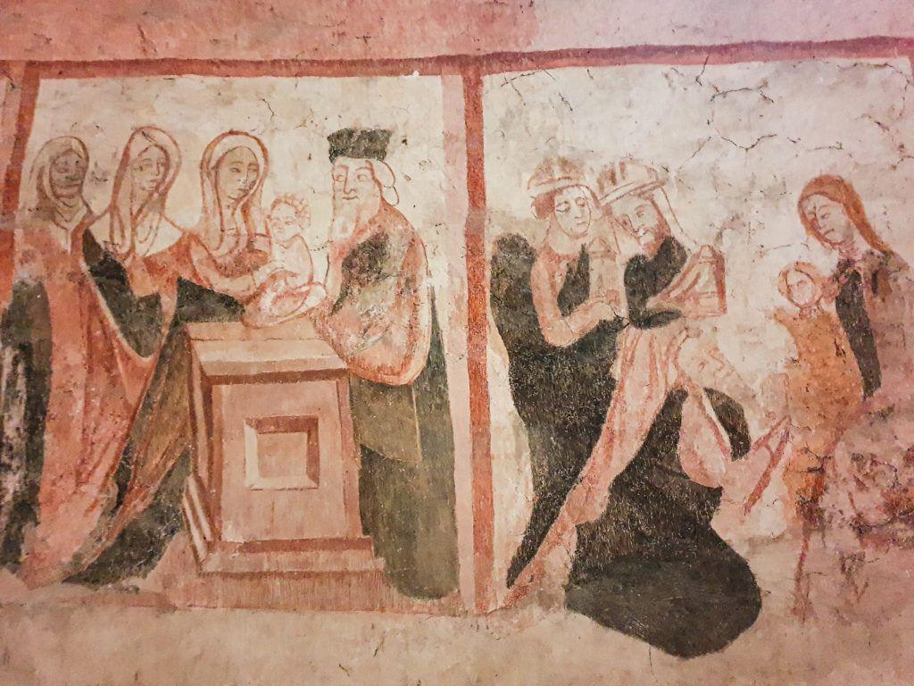 Kościół Wszystkich Świętych. Kolejny fresk