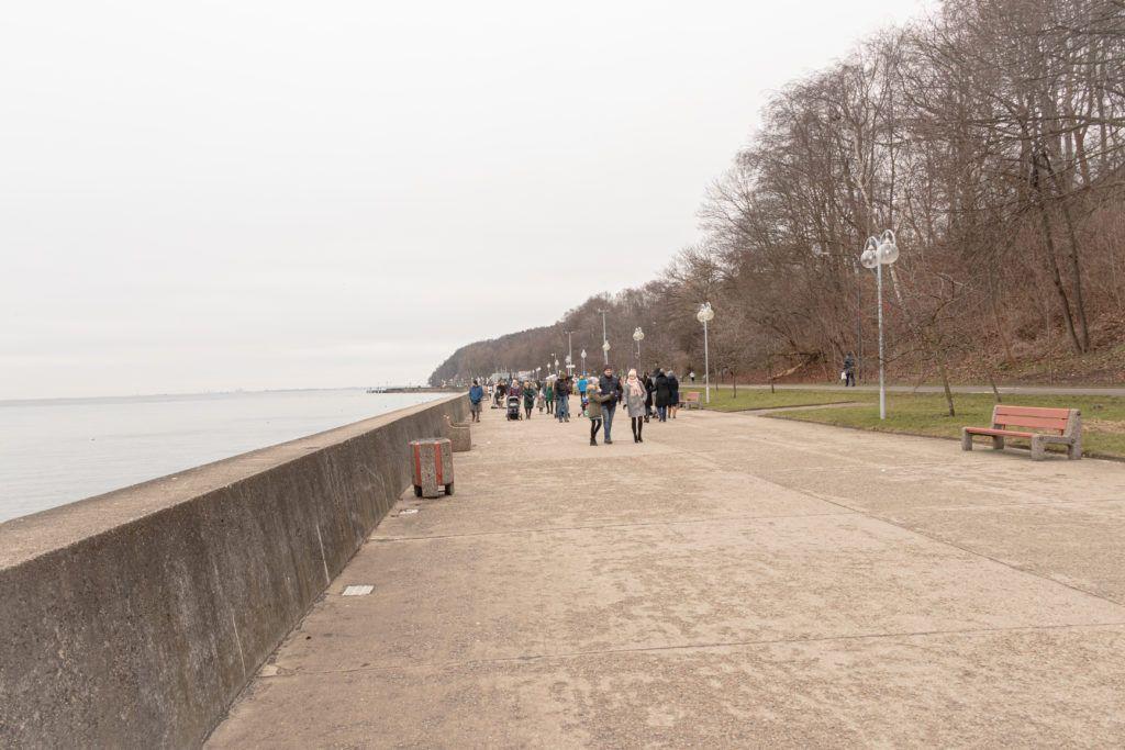 Gdynia. Bulwar nad morzem