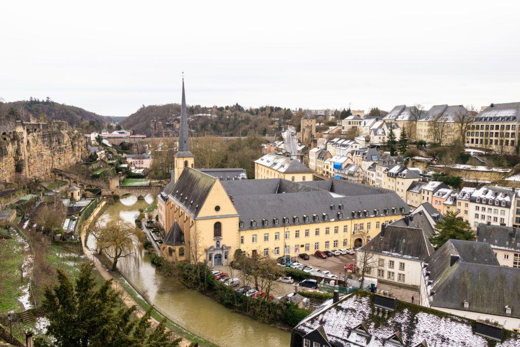 Luksemburg, widok z góry na Dolne Miasto