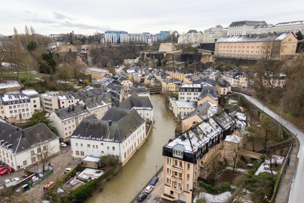 Luksemburg. Też widok na Dolne Miasto