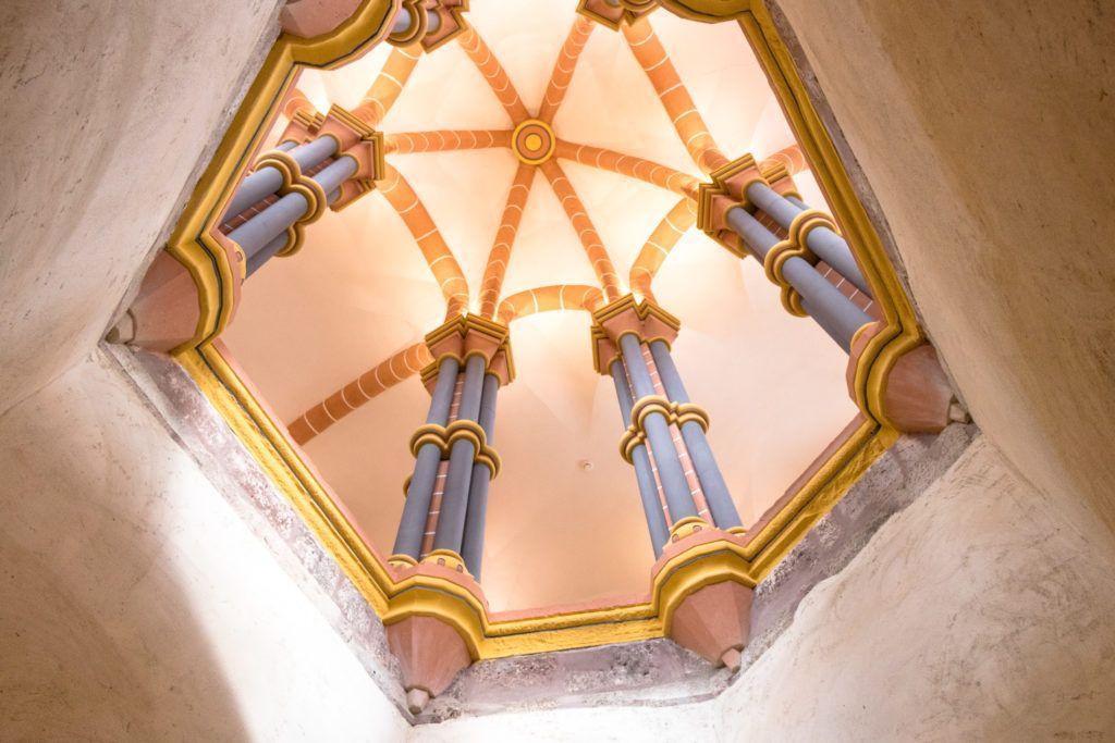 Vianden zamek, sklepienie w kaplicy