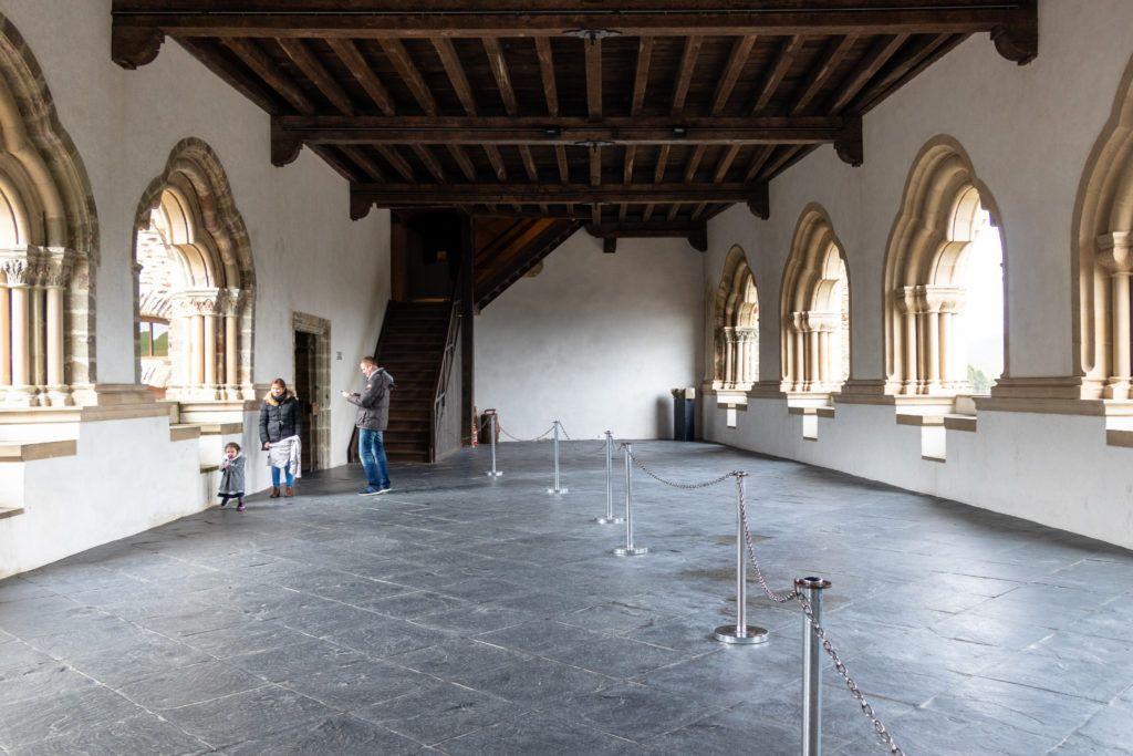 Vianden zamek. Sala bizantyjska w środku