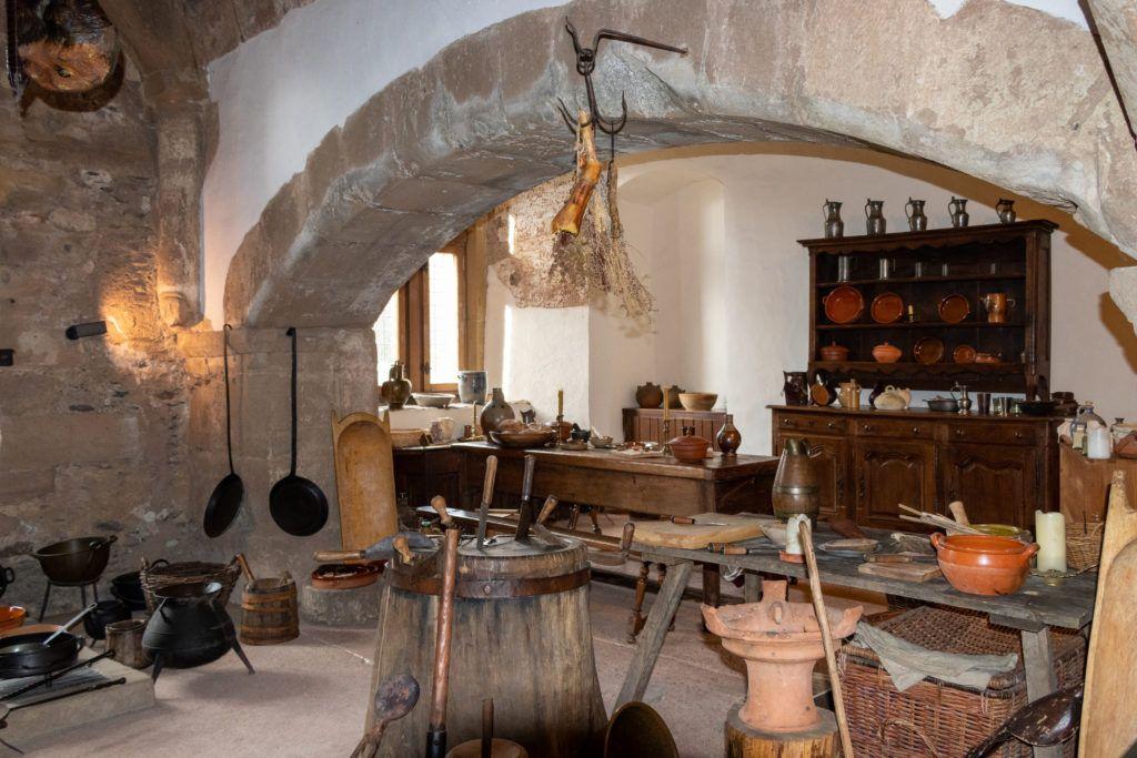 Vianden zamek. Kuchnia