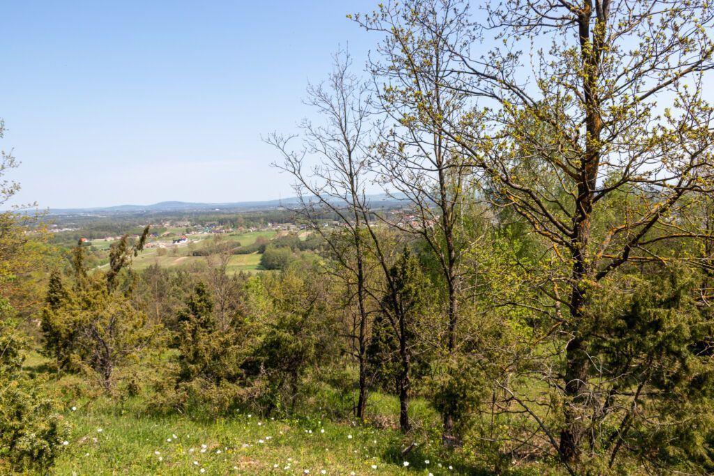 Okolice Kielc, widok z góry