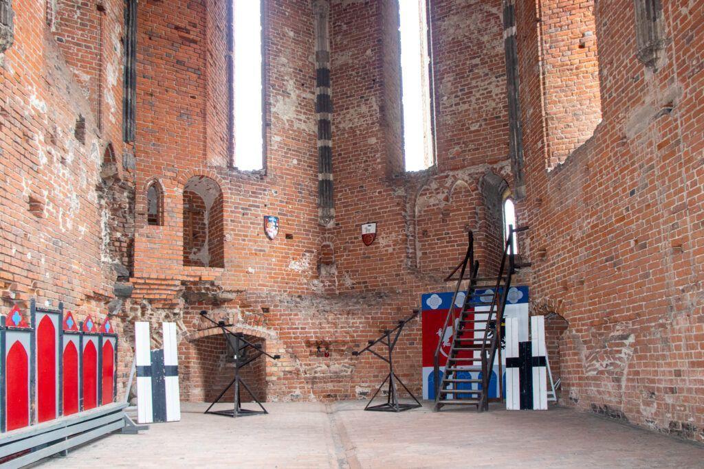 Ruiny zamku krzyżackiego w Radzyniu Chełmińskim - dawna kaplica
