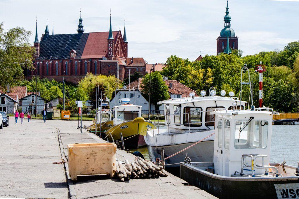 Frombork. Widok z portu