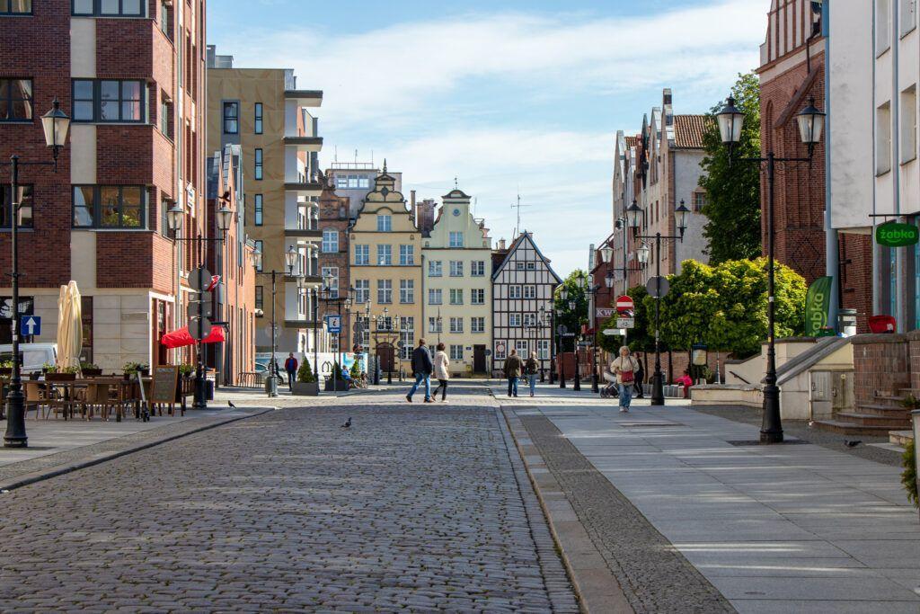 Elbląg. Nowe domy w centrum