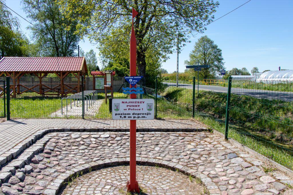 Raczki Elbląskie. Najniżej położony punkt w Polsce