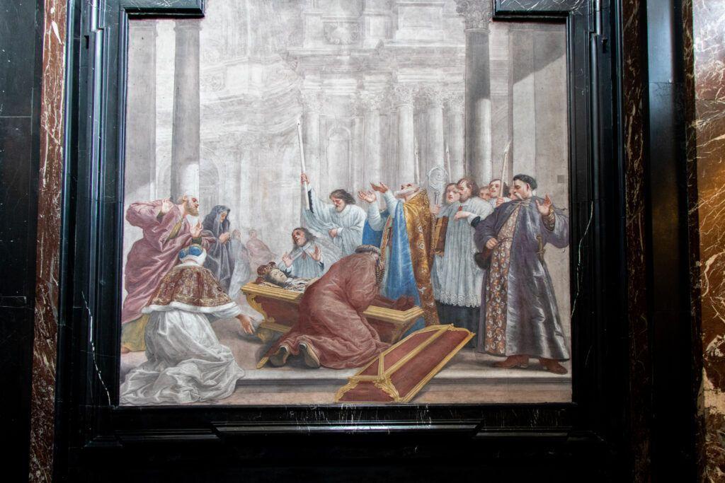 Wileńskie kościoły. Jeden z fresków w Kaplicy Kazimierzowskiej