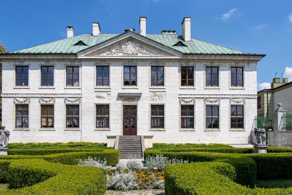 Pińczów. Front pałacu Wielopolskich