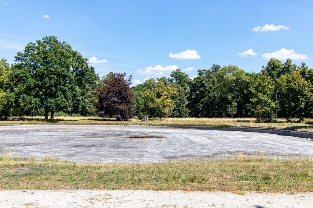Zaniedbany park w Rydzynie