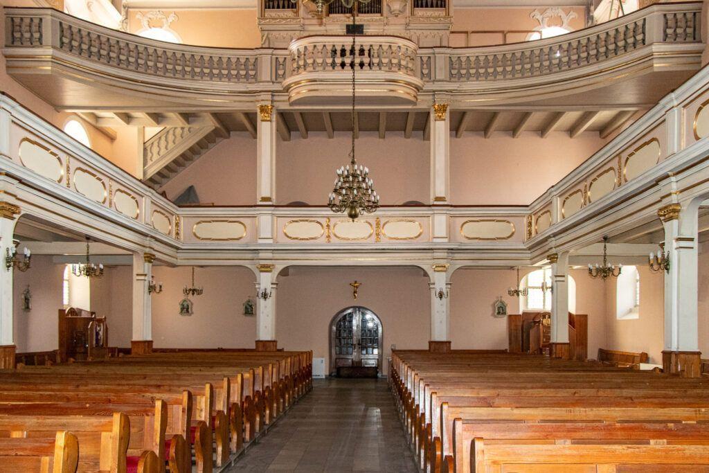 Wnętrze kościoła św. Jana w Lesznie