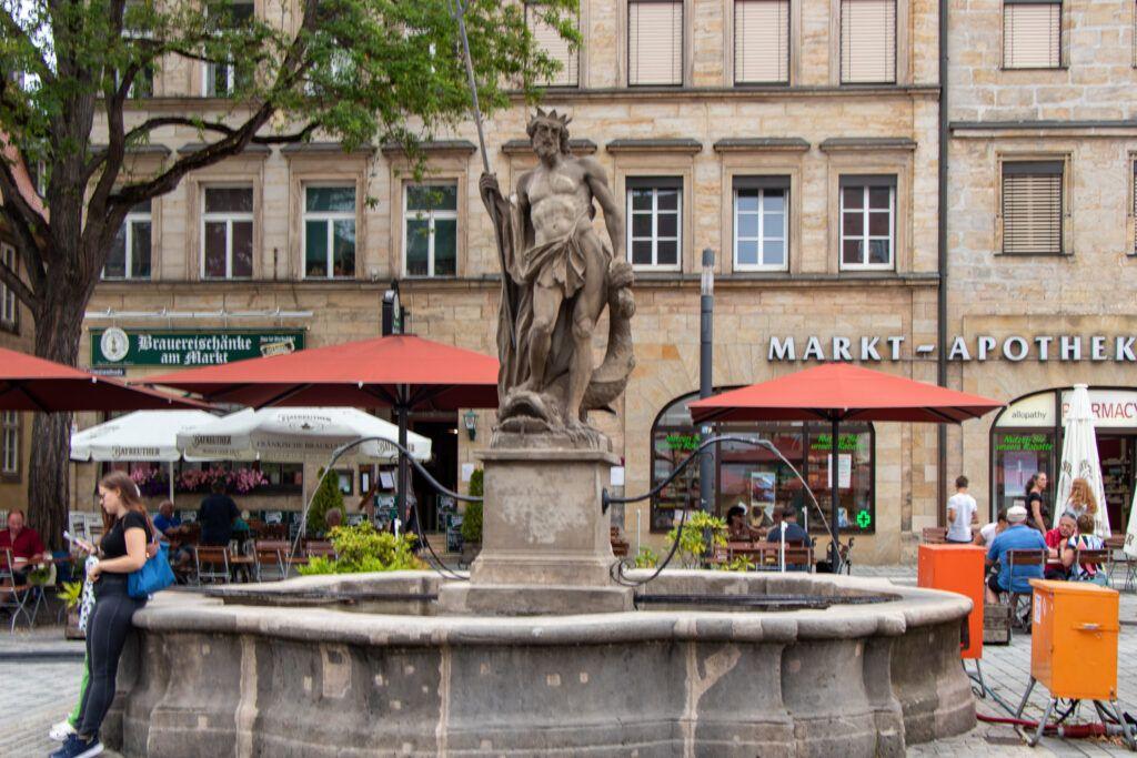Bayreuth. Pomnik Neptuna w Rynku