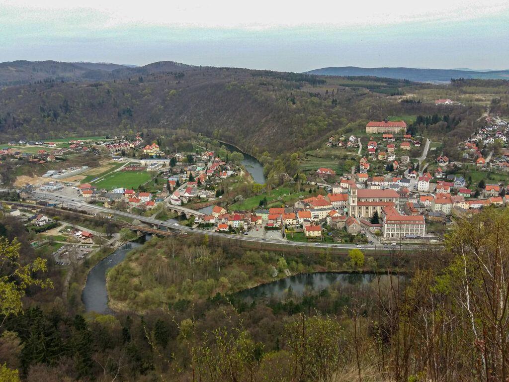 Weekend w Ząbkowicach Śląskich. Bardo, widok z góry