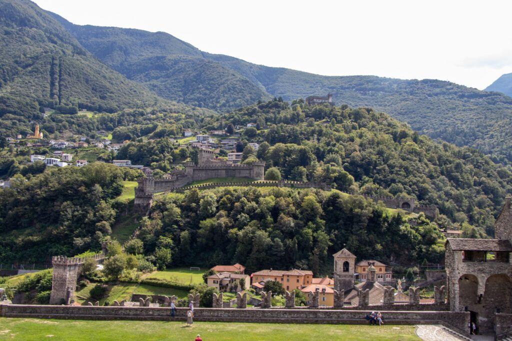 Castelgrande. Widok z wieży