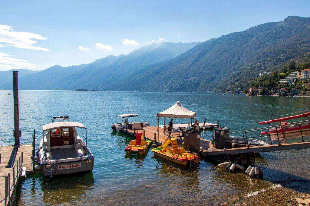 Ascona, wypożyczalnia sprzętu pływającego