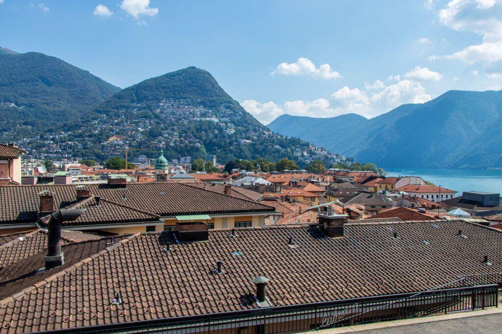 Lugano. Widok w czasie schodzenia