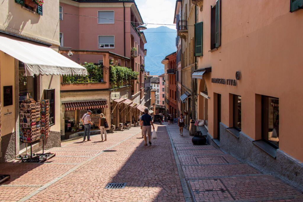 Jedna z ulic w Lugano