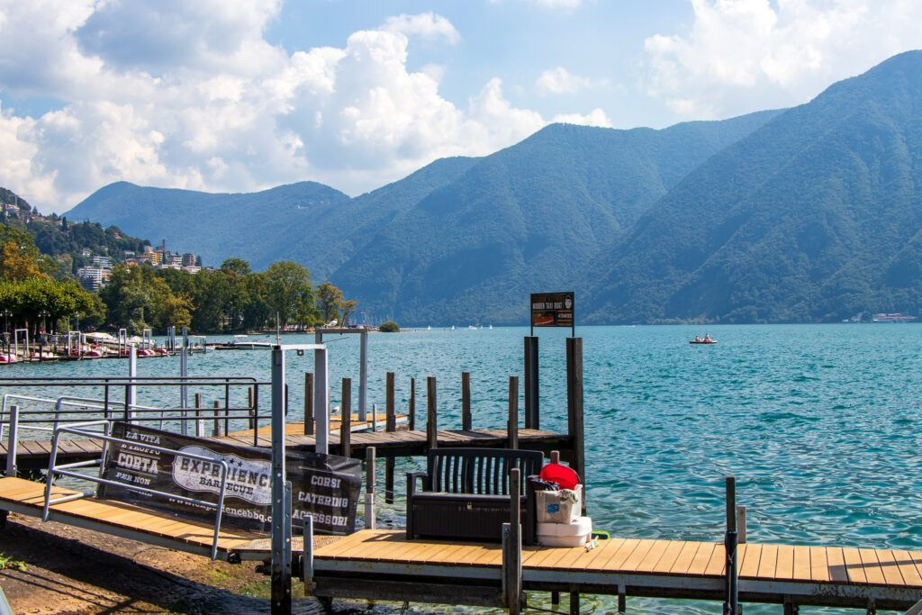 Przystań nad jeziorem