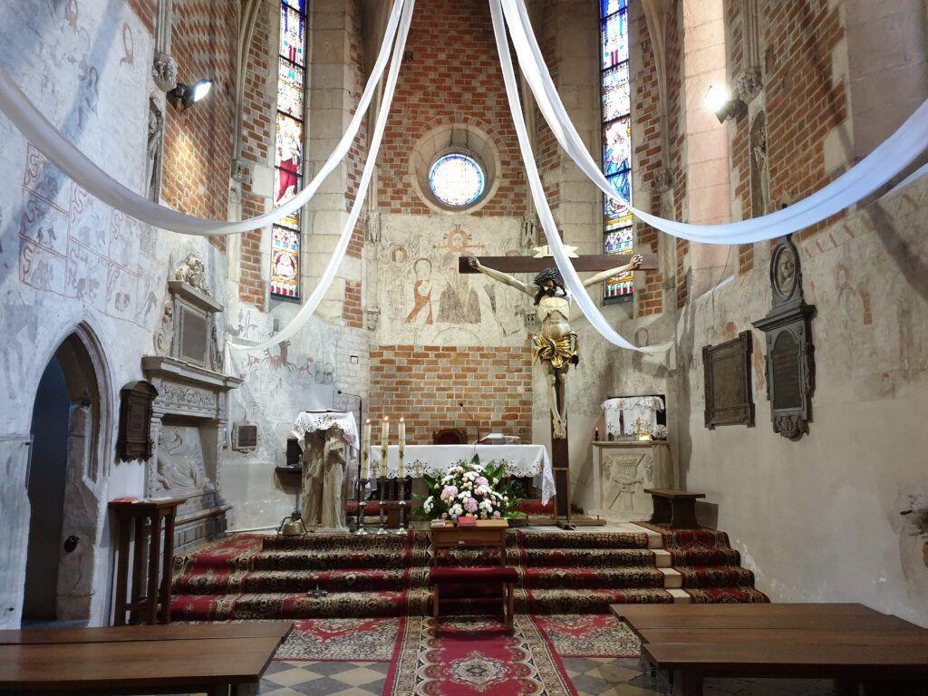 Wiślica, Bejsce i Sancygniów. Wnętrze kościoła w Bejscach