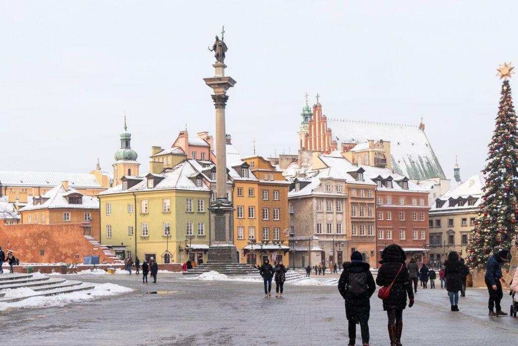 Plac Zamkowy w Warszawie. Kolumna Zygmunta