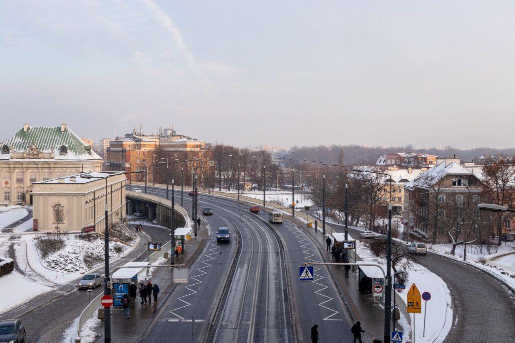Plac Zamkowy w Warszawie. Trasa W-Z
