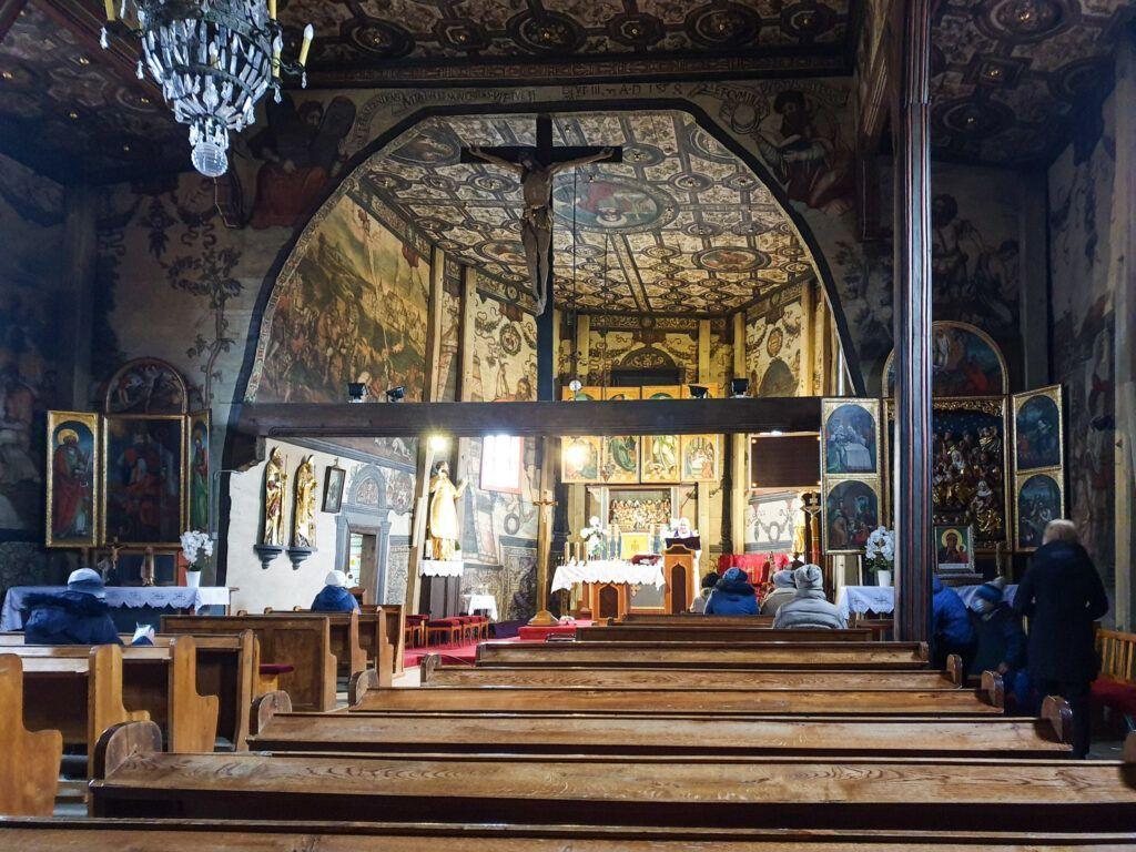 Rawa Mazowiecka. Wnętrze kościoła w Boguszycach