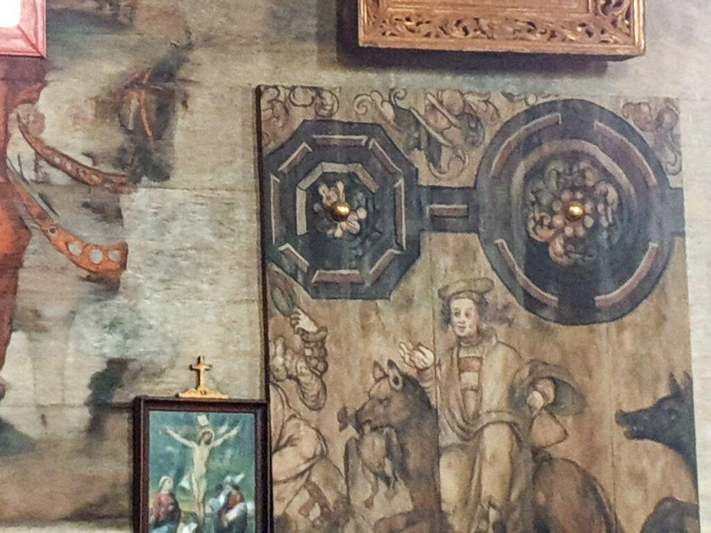 Rawa Mazowiecka. Kościół w Boguszycach, ściana boczna
