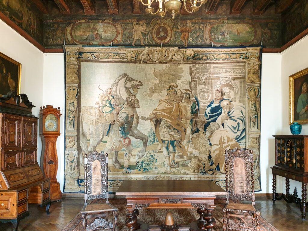 Kielce. Jedna z sal w Pałacu Biskupim